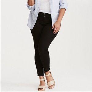 Torrid premium stretch skinny jeans black 22S